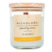 Crystal Amber Wickology Candle - 10 Ounce